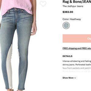 Rag & Bone Jodhpur Jeans